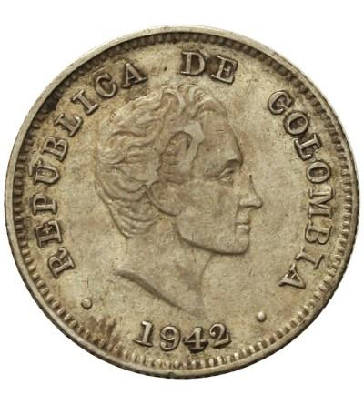 Kolumbia 10 centavos 1942 B