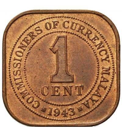 Malaje Brytyjskie 1 cent 1943