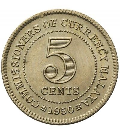 Malaje Brytyjskie 5 centów 1950