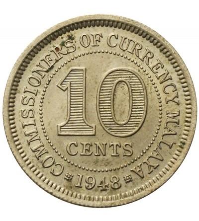 Malaje Brytyjskie 10 centów 1948