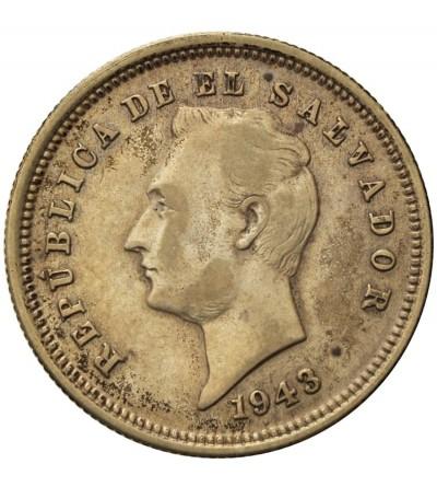 El Salvador 25 Centavos 1943