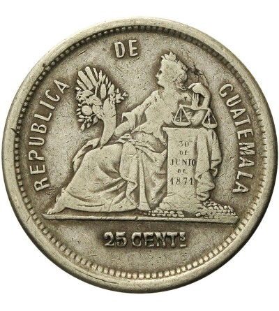 Gwatemala 25 centavos 1882