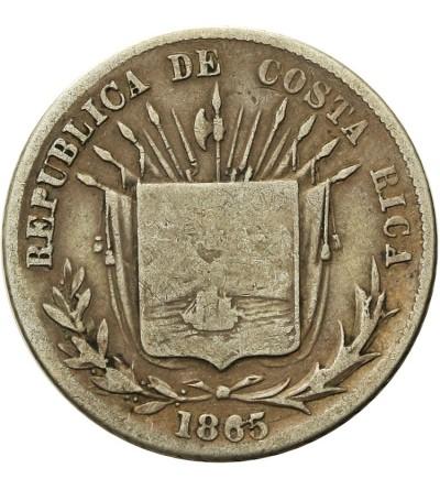 Kostaryka 25 Centavos 1865