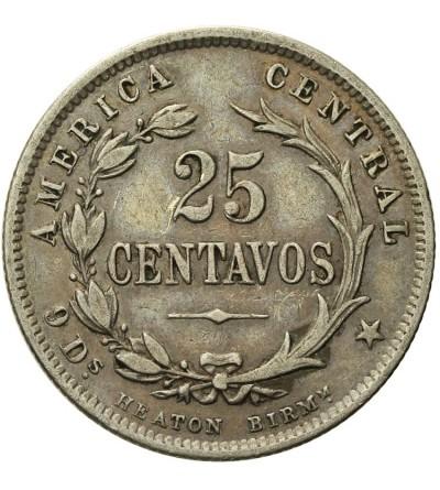 Kostaryka 25 Centavos 1890