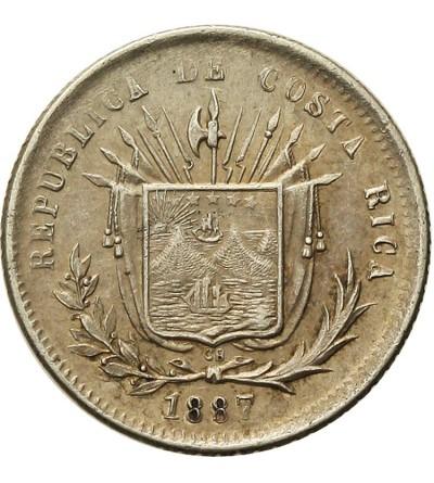 Kostaryka 25 Centavos 1887