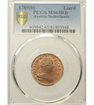 Niderlandy Austriackie 1 liard 1789 B. PCGS MS 65RB