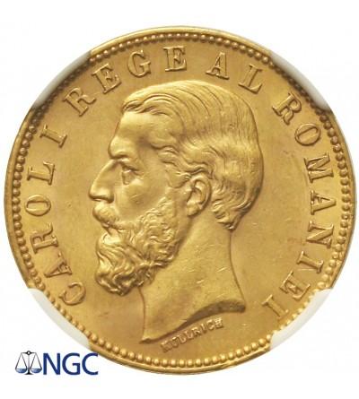 Rumunia 20 lei 1890 B - NGC MS62