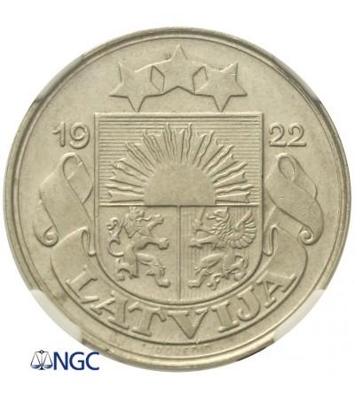 Latvia 50 santimu 1922. NGC AU 55