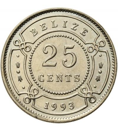 Belize 25 centów 1993