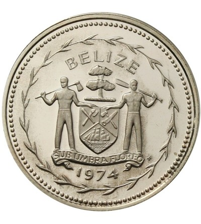 Belize 5 centów 1974 - srebro Proof