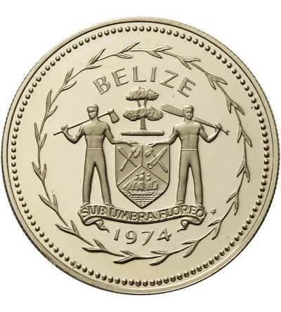 Belize 25 centów 1974 - srebro Proof