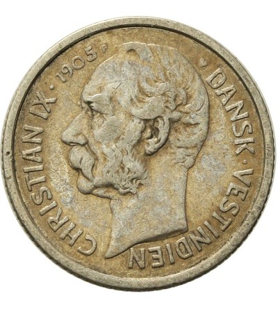 Danish West Indies 5 Cents 1905
