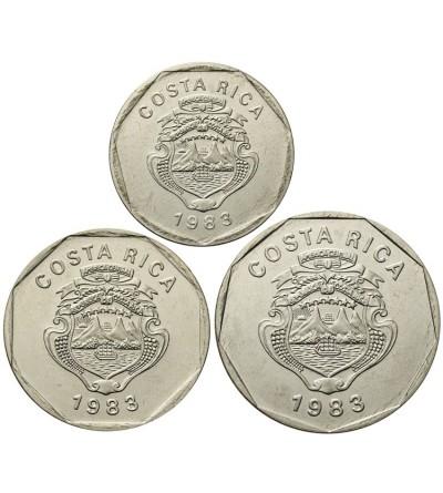 Costa Rica 5,10, 20 Colones 1983