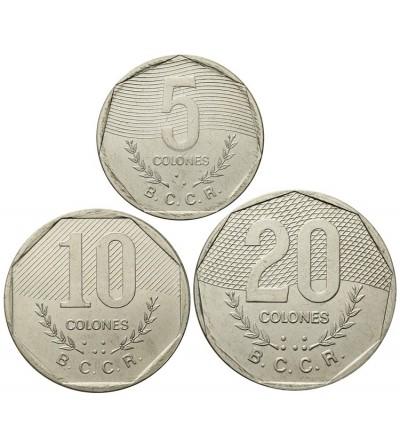 Kostaryka 5,10, 20 colones 1983