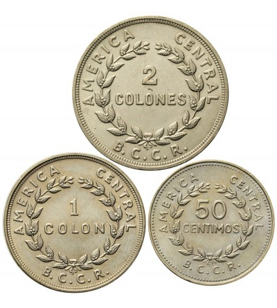 Kostaryka 50 centioms 1, 2 colones 1978
