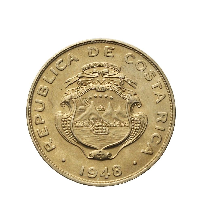 Kostaryka 25 centimos 1948