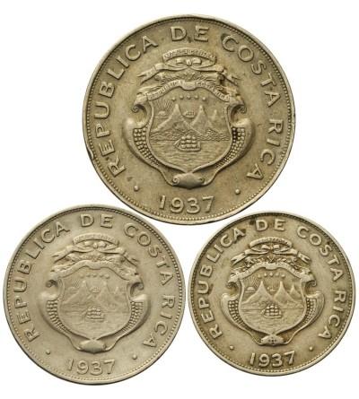 Costa Rica 25, 50 Centimos 1 Colon 1937