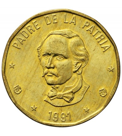 Dominikana 1 peso 1991