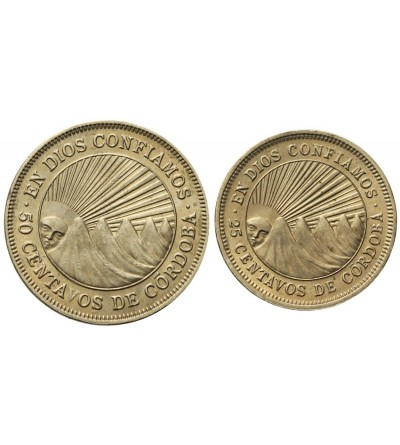 Nikaragua 25, 50 centavos 1965