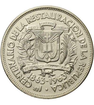 Domican Republic 1/2 Peso 1963