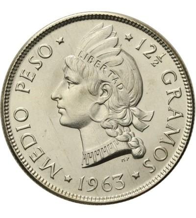 Dominikana 1/2 peso 1963