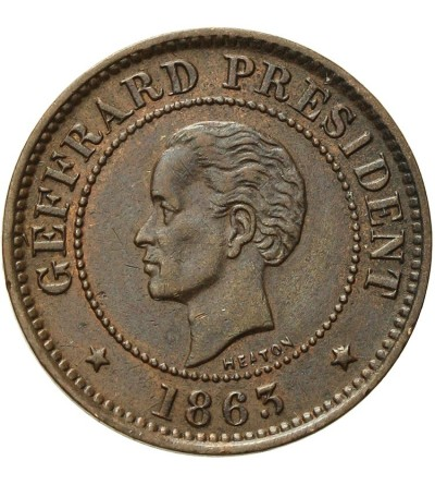 Haiti 5 centimes 1863