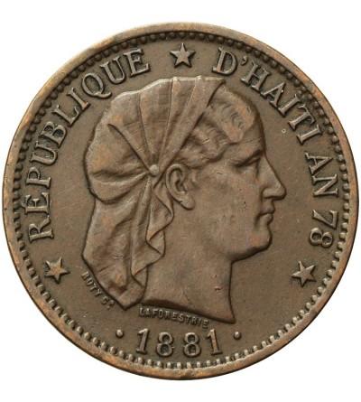 Haiti 2 centimes 1881