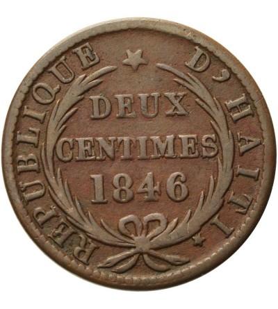 Haiti 2 centimes 1846 / AN 43
