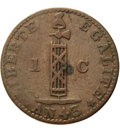 Haiti 1 centime 1846 / AN 43