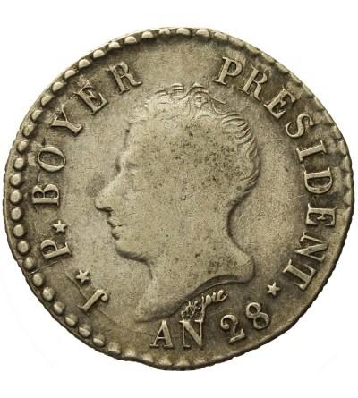 Haiti 50 centimes 1831 / AN 28