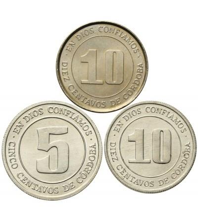 Nikaragua 5, 10, 10 centavos 1974 - 1978