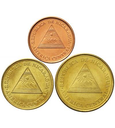 Nicaragua 5, 10, 25 Centavos 2002