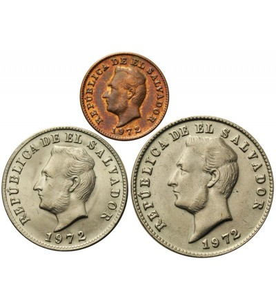Salwador 1, 5, 10 centavos 1972