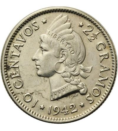 Dominikana 10 centavos 1942