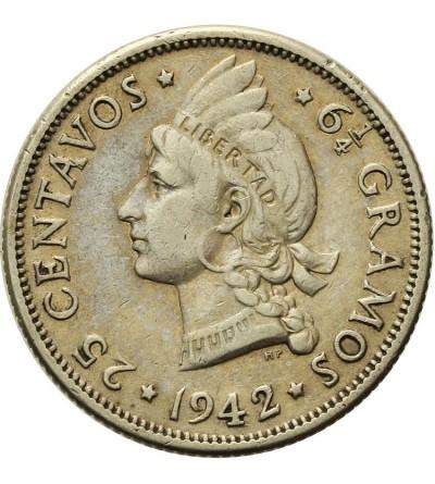 Dominican Republic 25 Centavos 1942