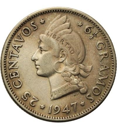Dominican Republic 25 Centavos 1947
