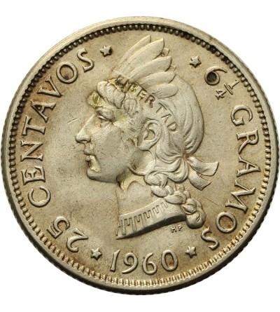 Dominikana 25 centavos 1960