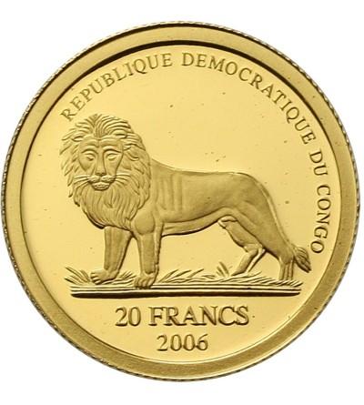 Kongo 20 franków 2006. Świnka