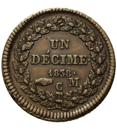 Monako decime 1838 M C