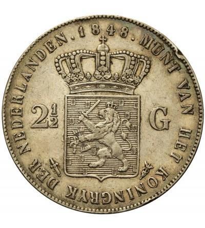 Holandia 2 1/2 guldena 1848