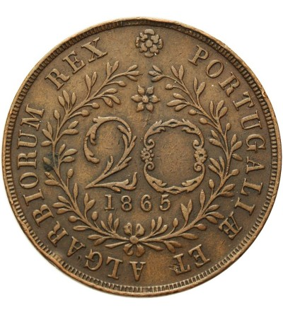 Azory 20 reis 1865