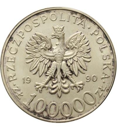 Poland 100000 Zlotych 1990, Solidarnosc - var. A