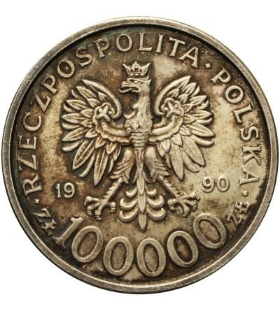 100000 złotych 1990, Solidarność - typ B