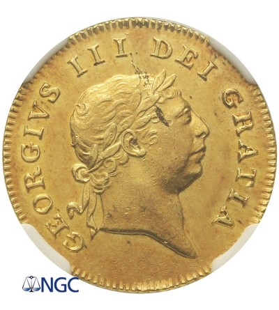 Great Britain 1/2 Guinea 1809, NGC AU 58