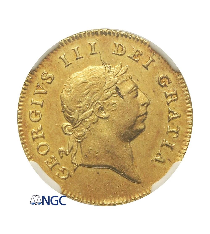 Wielka Brytania 1/2 guinea 1809, NGC AU 58