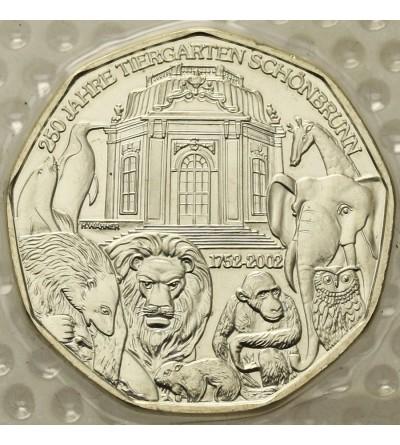Austria 5 Euro 2002, ZOO Schoenbrunn