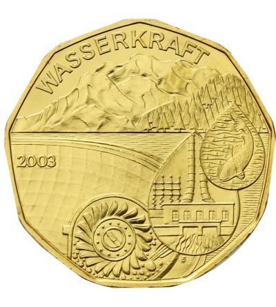 Austria 5 Euro 2002, Water power
