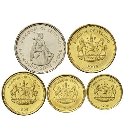 Lesotho 5, 10, 20, 50 Licente 1 Loti 1998 - lot 5 pcs