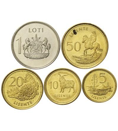 Lesoto 5, 10, 20, 50 Licente 1 Loti 1998 - 5 sztuk