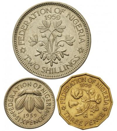 Nigeria 3, 6, pence 2 shilling 1959